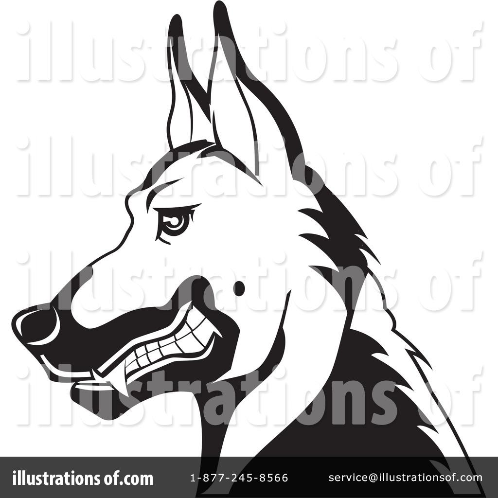 German Shepherd Clipart #26537 - Illustration by David Rey