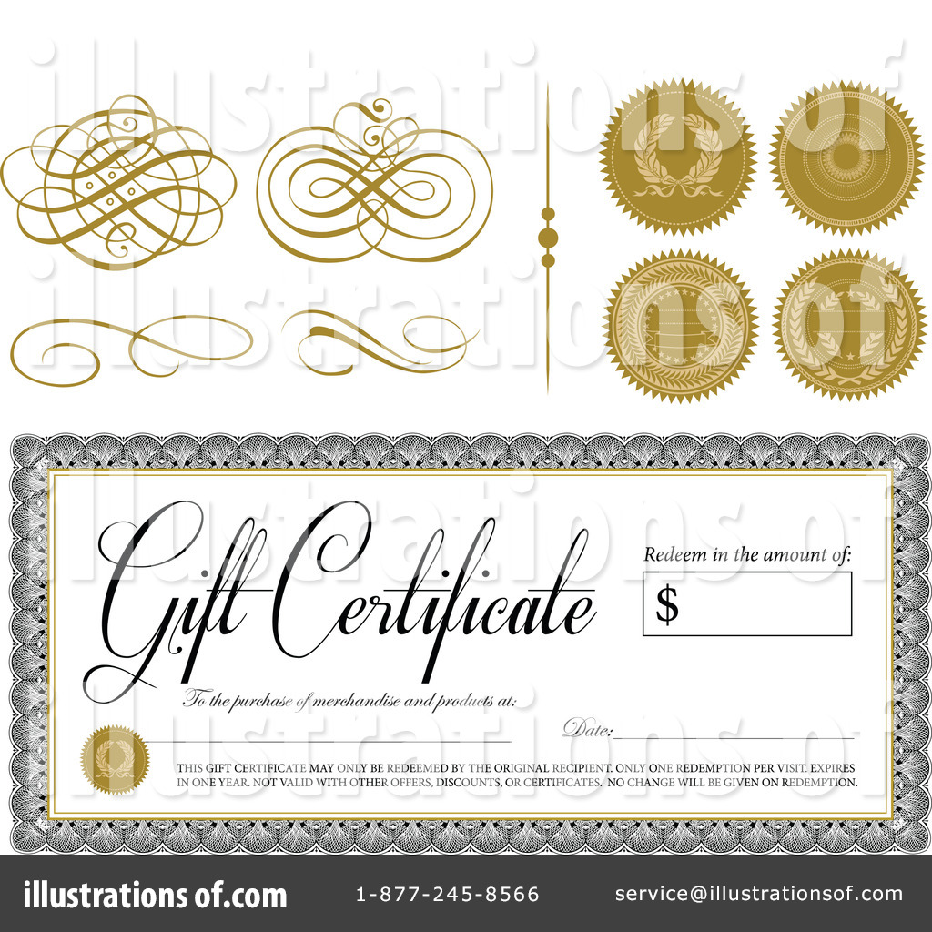 This is a graphic of Accomplished Gift Certificate Clip Art