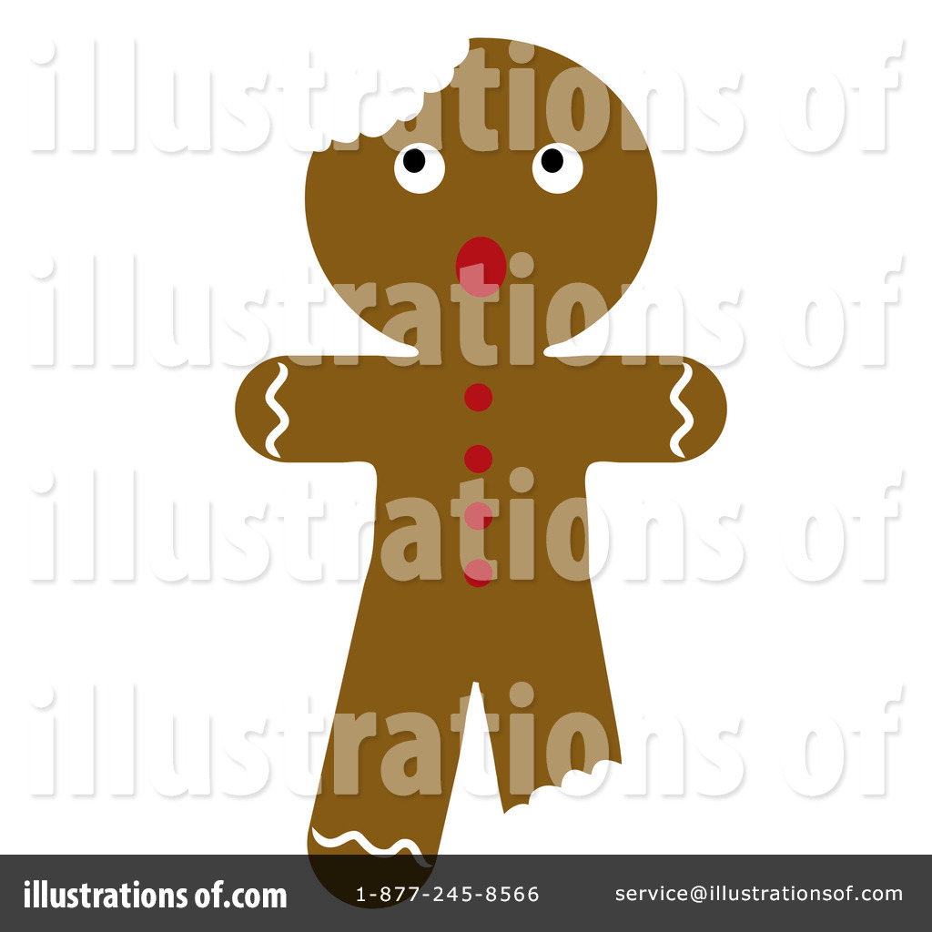 Royalty-Free (RF) Gingerbread Man Clipart Illustration by Pams Clipart ...