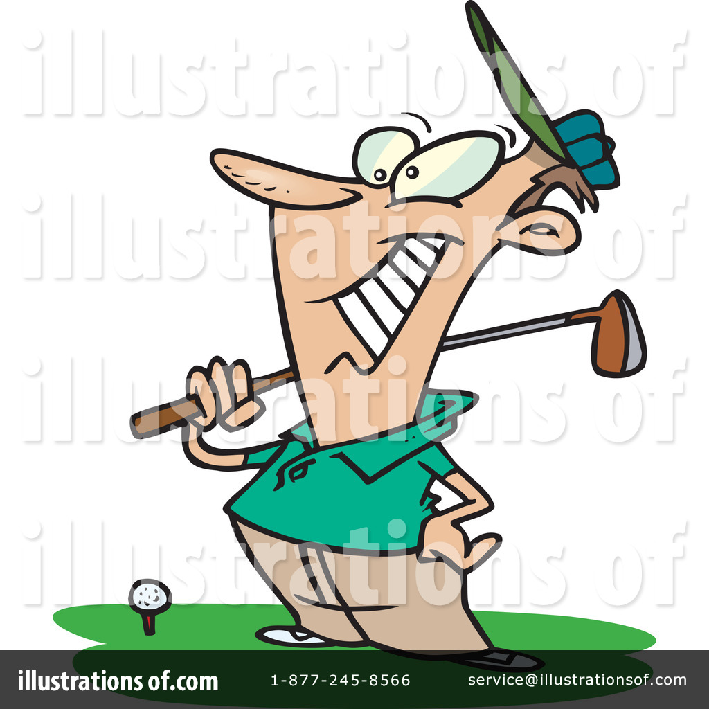 Golf illustration. Clipart by toonaday
