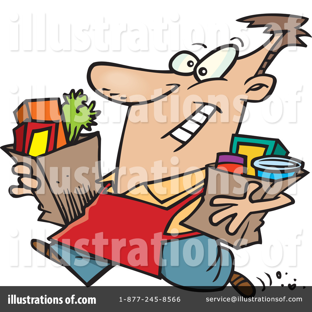 Groceries Clipart #1046910 by Ron Leishman | Royalty-Free (RF ...