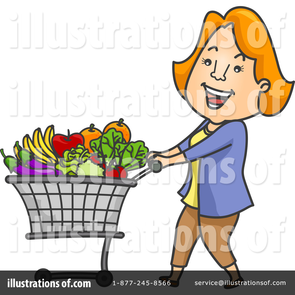 Grocery Cart Clip Art Grocery shopping clipart