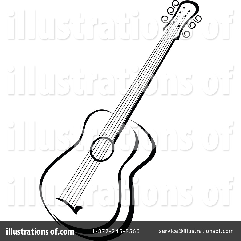 Royalty Free RF Guitar Clipart Illustration By Vector Tradition SM