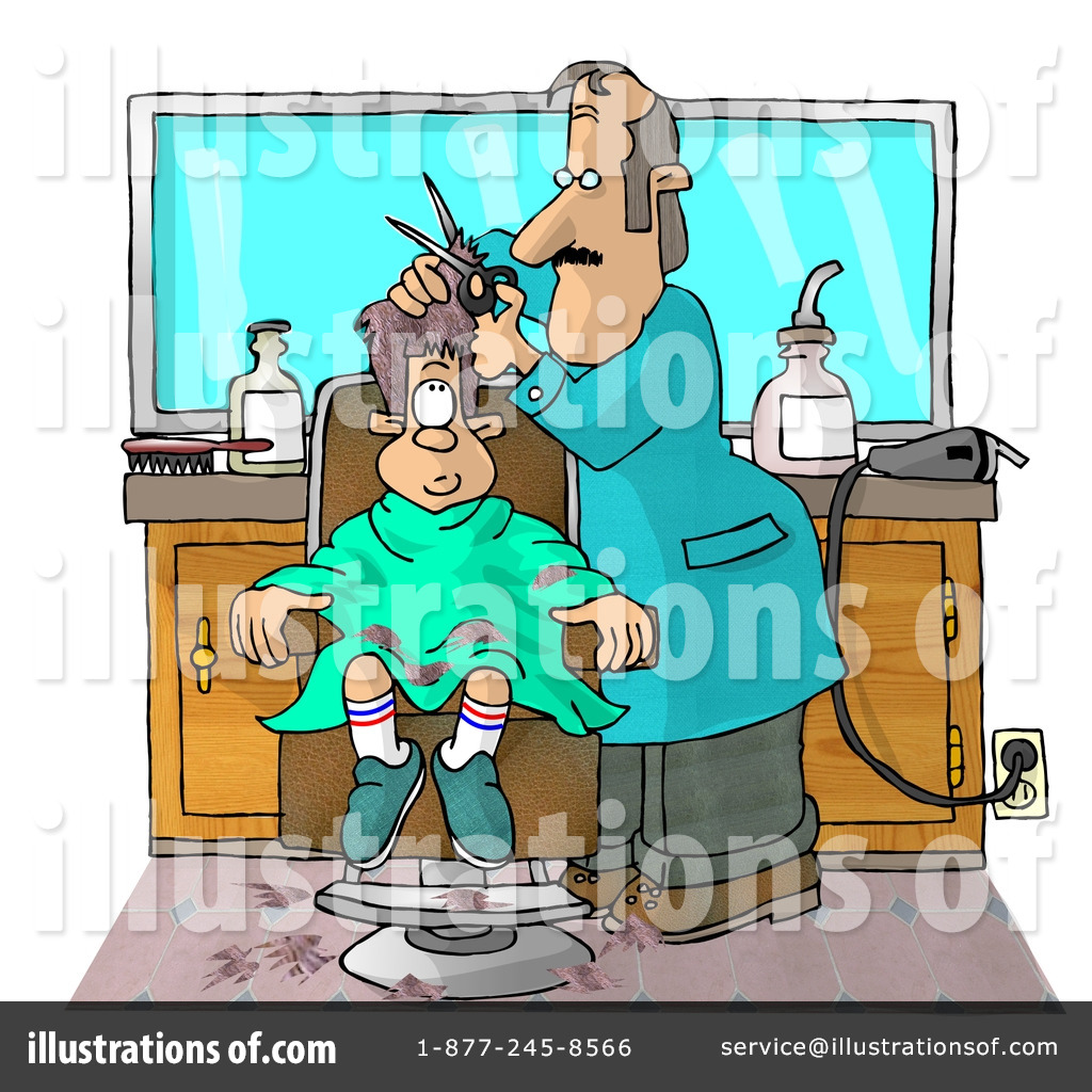 Royalty-Free (RF) Haircut Clipart Illustration by Dennis Cox - Stock ...