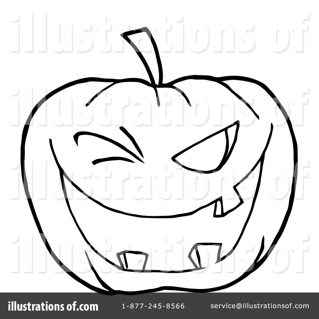 Halloween Pumpkin Clipart #224009 - Illustration by Hit Toon