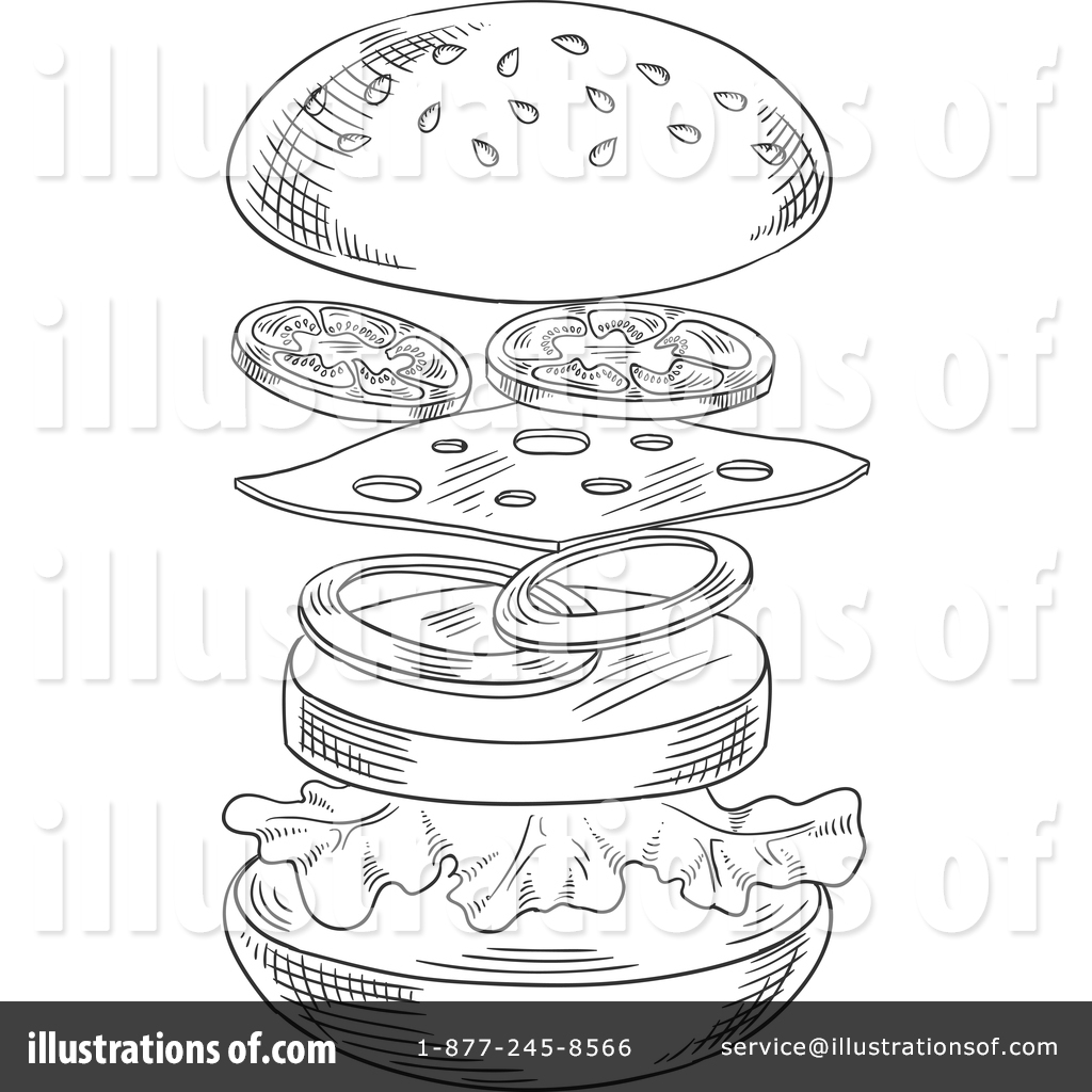 Clipart Illustration By Vector Tradition Sm Stock Sample 1390547 Royalty Free Hamburger Cuckoo Clock Coloring Page