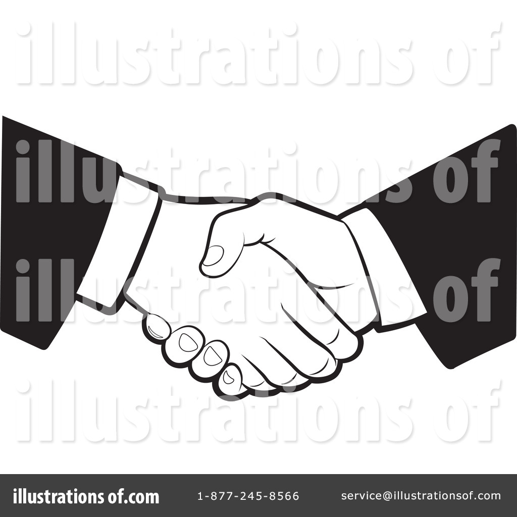Handshake Clipart #1054581 - Illustration by Lal Perera
