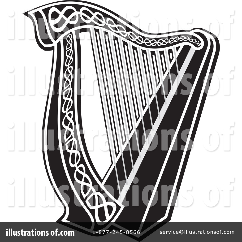 Harp Clipart #1062774 - Illustration by Any Vector