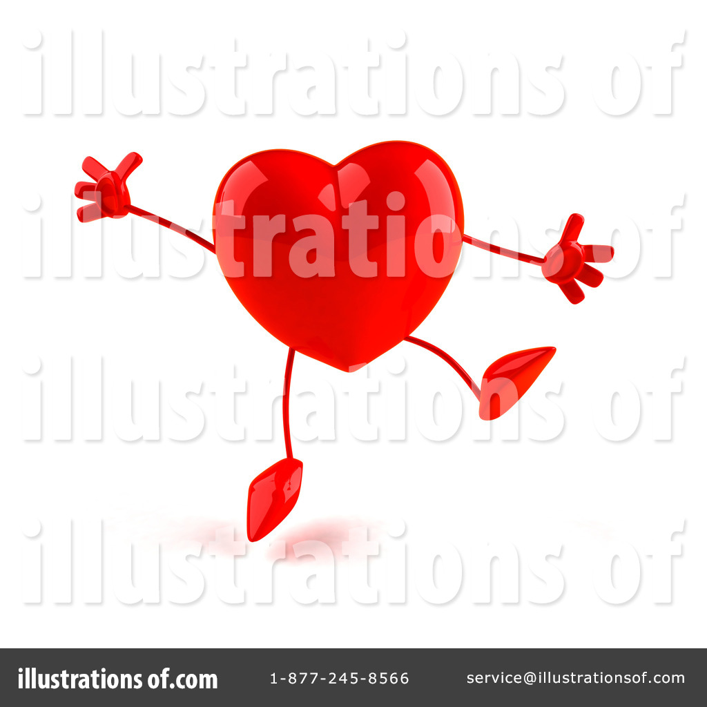 Heart stock illustration royalty free illustrations stock clip art - Royalty Free Rf Heart Character Clipart Illustration By Julos Stock Sample