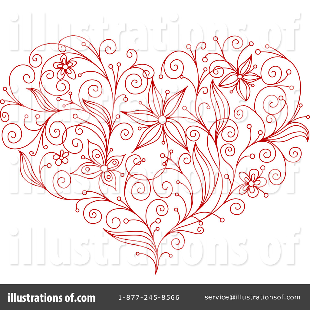 Heart stock illustration royalty free illustrations stock clip art - Royalty Free Rf Heart Clipart Illustration By Vector Tradition Sm Stock Sample