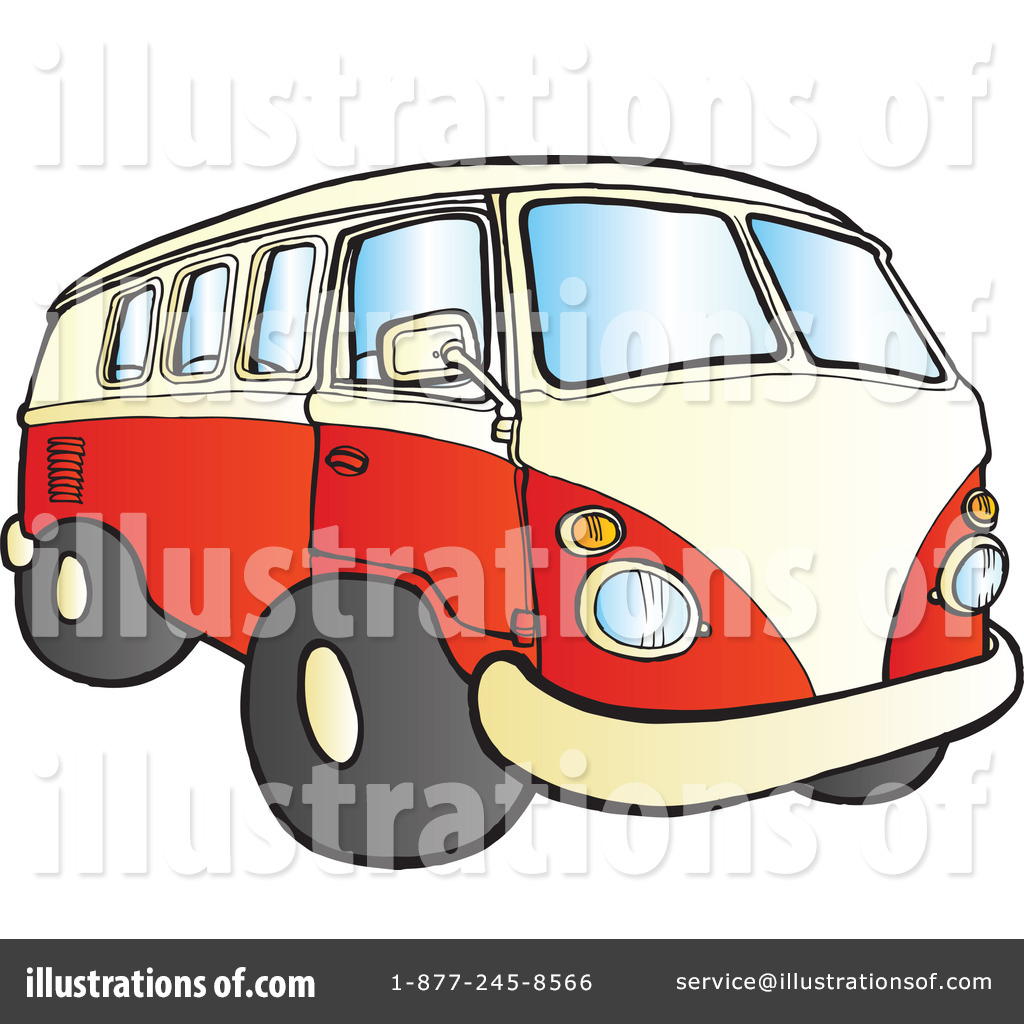 Vw Bus Clip Art Van clipart illustration