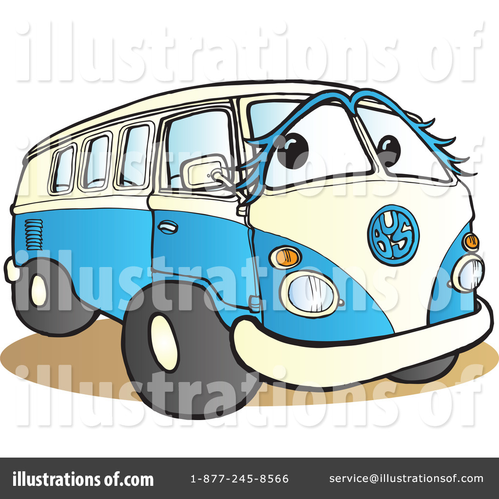 More Clip Art Illustrations of Hippie Van
