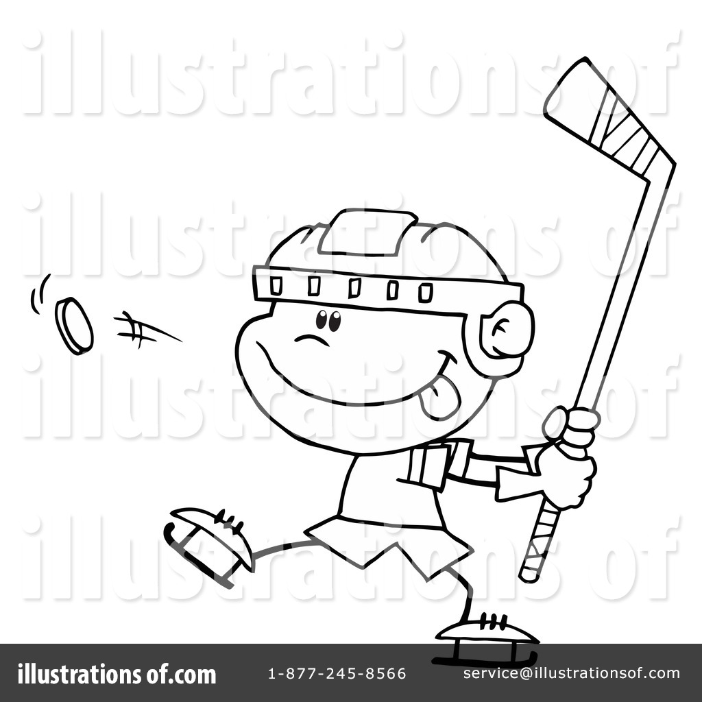 hockey clipart 36406 illustration by hit toon