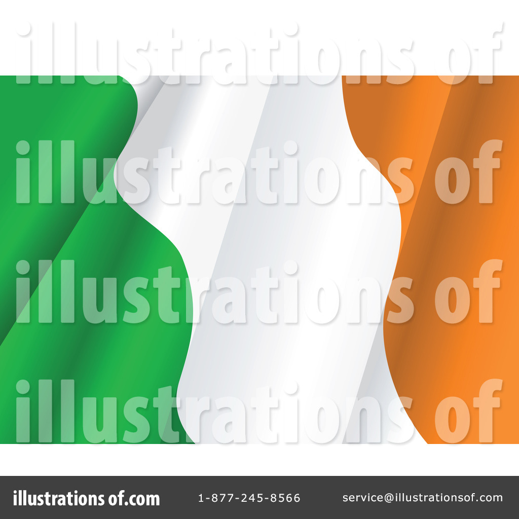Ireland Flag Clipart #1064810 - Illustration by Vector Tradition SM
