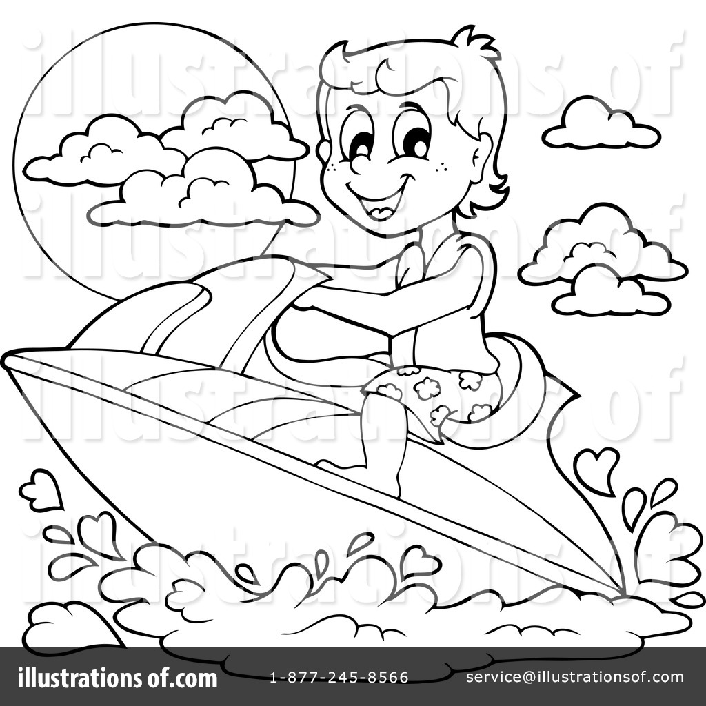 Jetski Coloring Pages