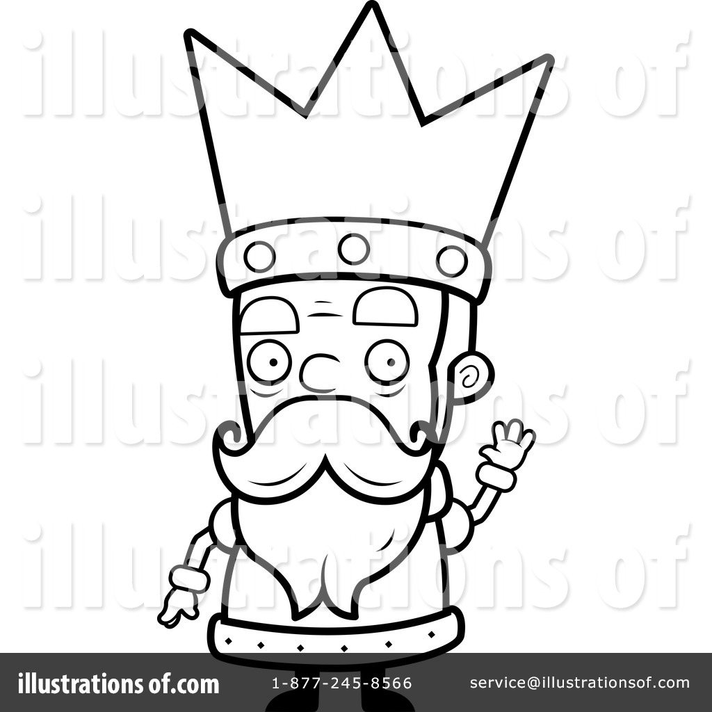 Royalty-Free  RF  King Clipart King Clip Art Black And White