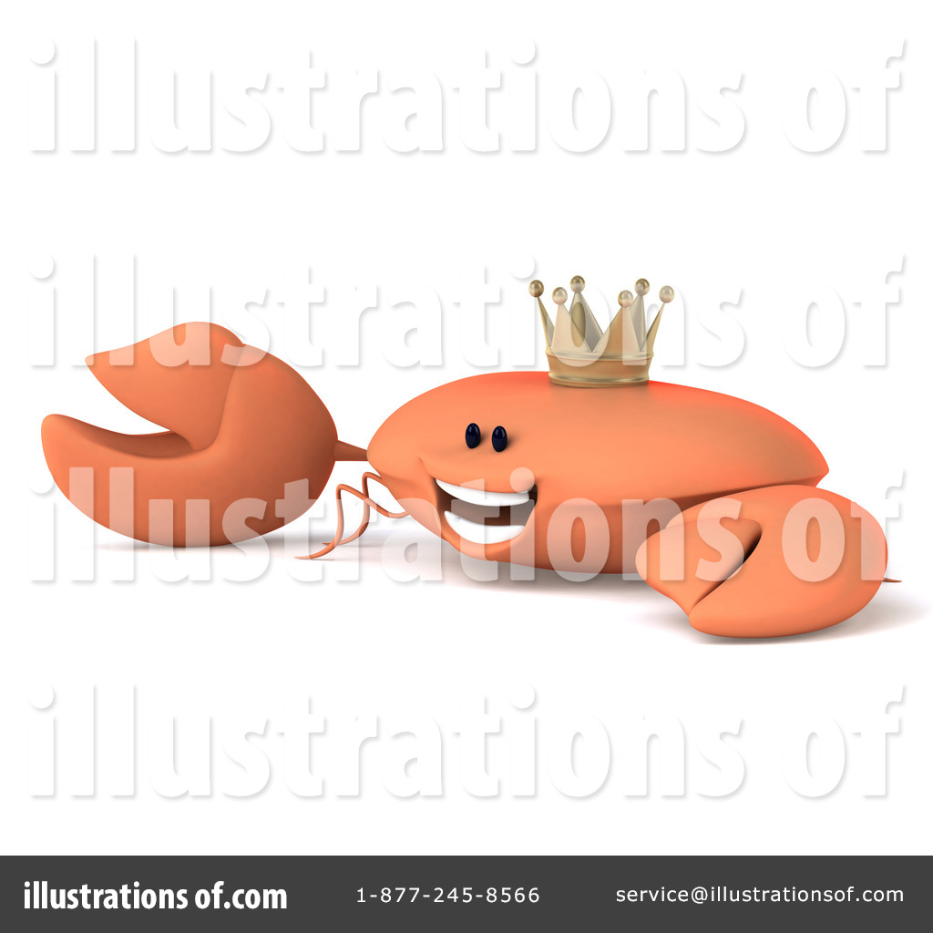 King Crab Clipart #1236059 - Illustration by Julos