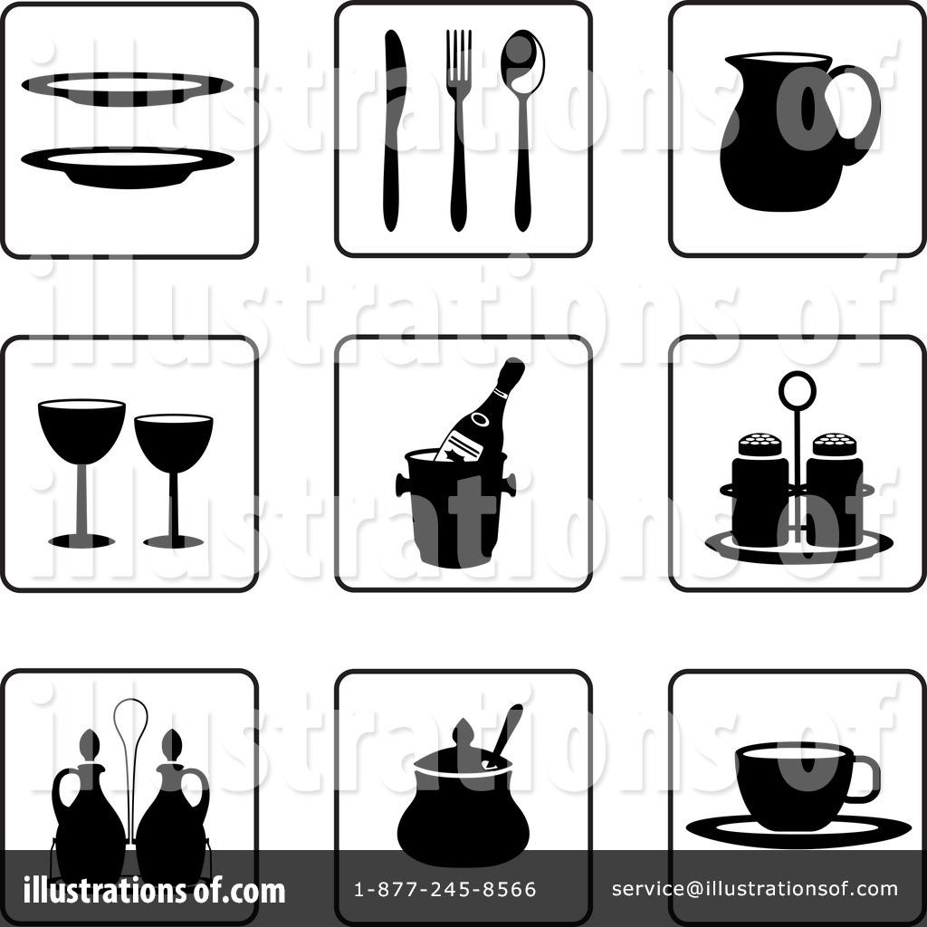 Kitchen Items Clipart #59068 - Illustration by Frisko