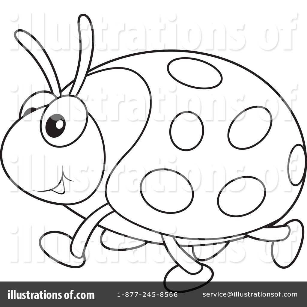 Ladybug Black And White Clip Art