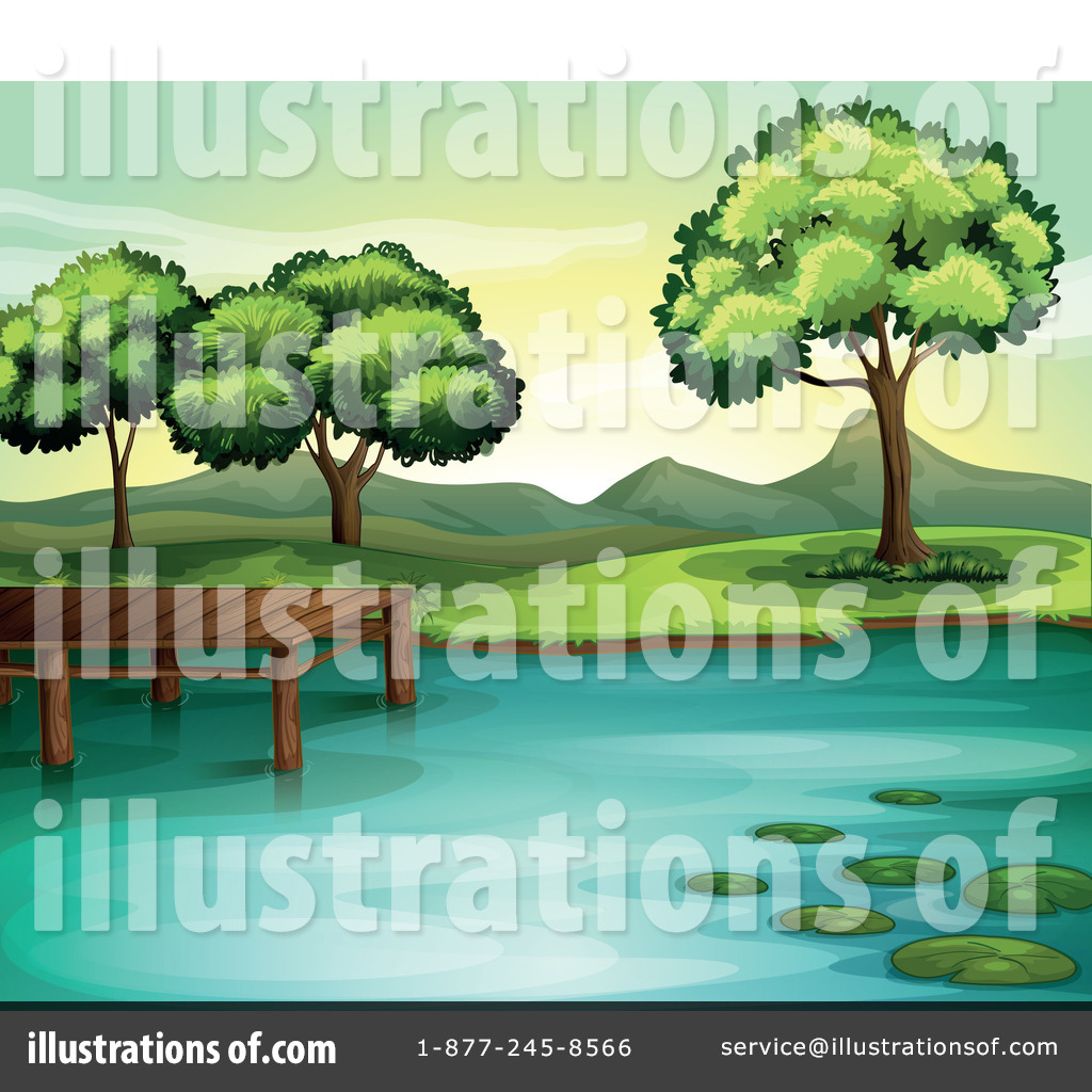 Lake Clipart #1133393 - Illustration by colematt