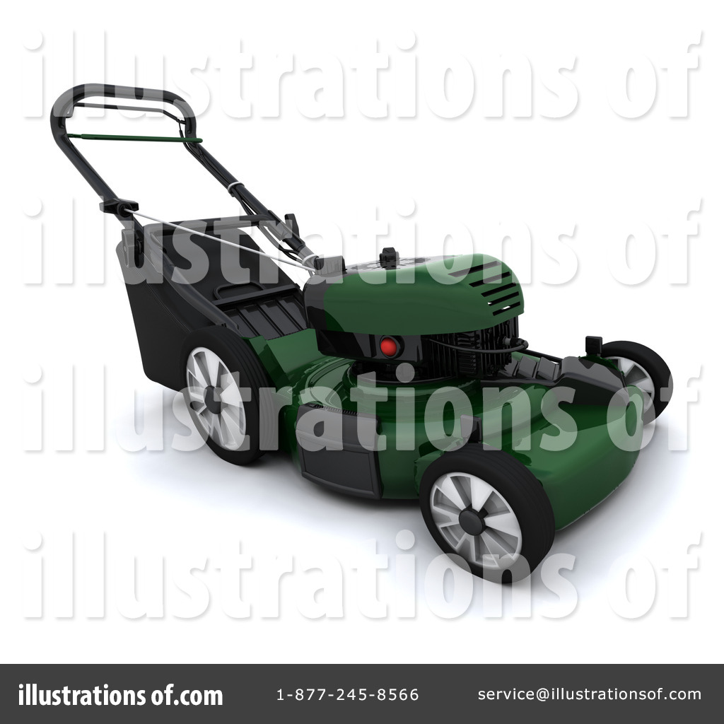 Lawn Mower Clipart #1050444 by KJ Pargeter | Royalty-Free (RF) Stock ...