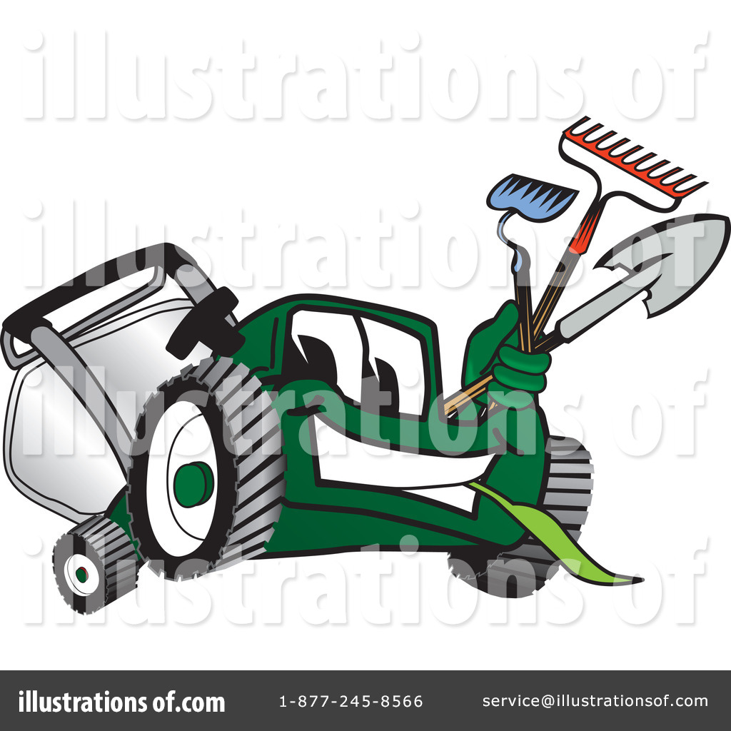 lawn mower clipart 16570 illustration by toons4biz rh illustrationsof com lawn care business clipart lawn care clipart images