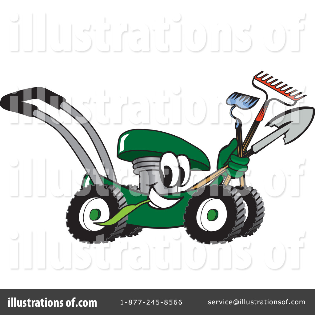 Lawn Mower Clipart #16573 - Illustration by Toons4Biz
