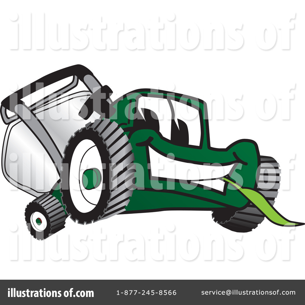 Lawn Mower Clipart #16580 - Illustration by Toons4Biz