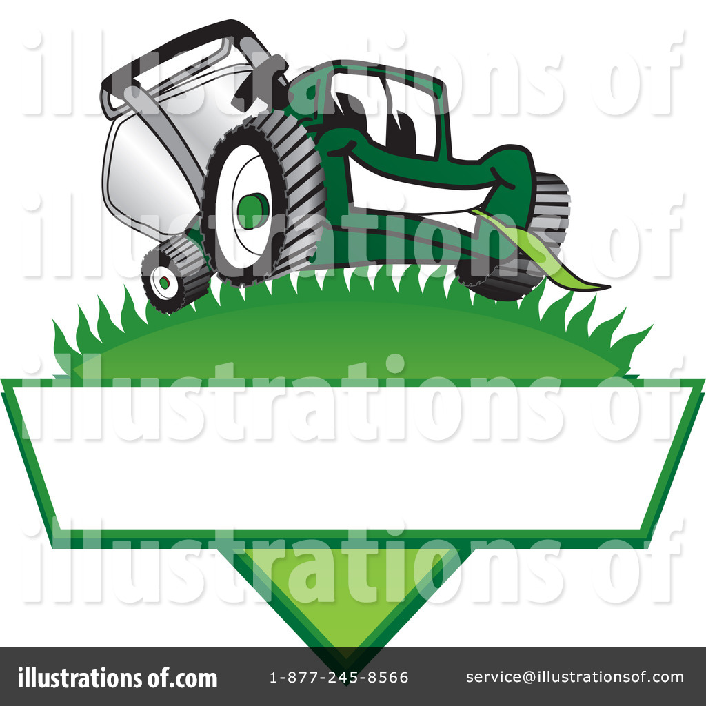 Lawn Mower Clipart #16581 - Illustration by Toons4Biz