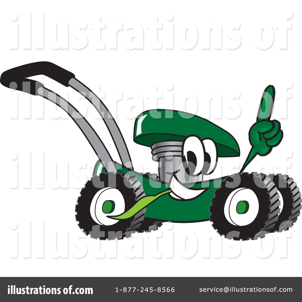 Lawn Mower Clipart #16585 - Illustration by Toons4Biz