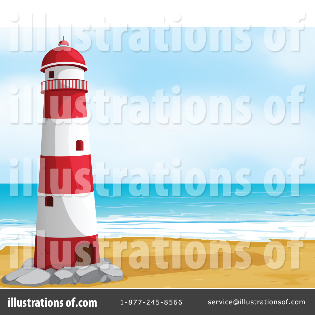 Lighthouse Clipart #1133029 - Illustration by colematt