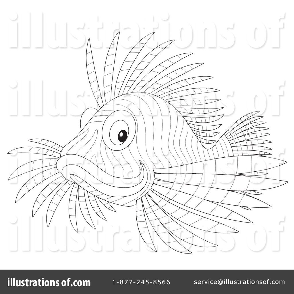 Adult Best Lionfish Coloring Page Images cute lion fish clipart 1096557 illustration by alex bannykh royalty free rf stock sample gallery images