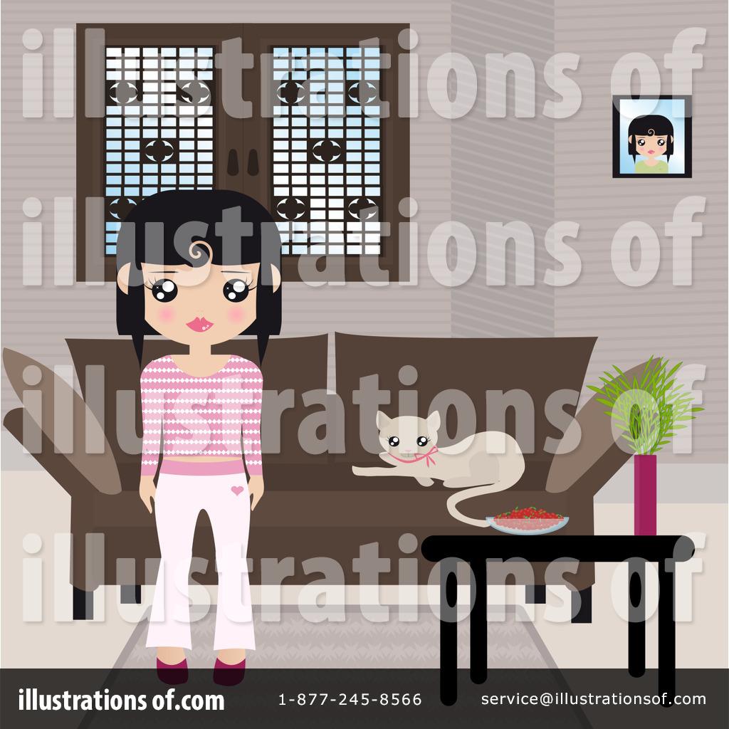 Royalty free rf living room clipart illustration by melisende vector