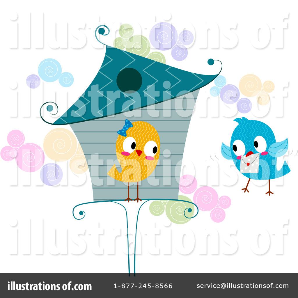 Teal Love Birds Clipart