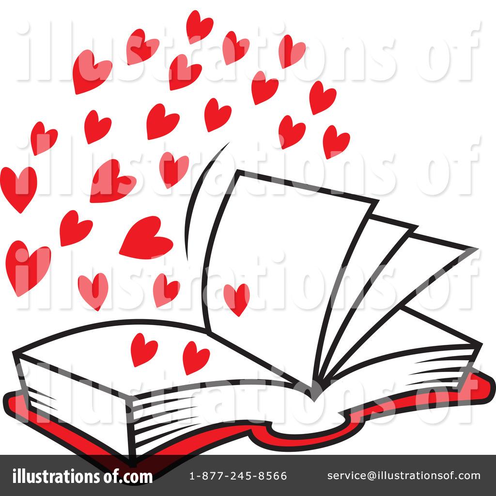 Royalty-Free  RF  Love Clipart I Love Books Clipart