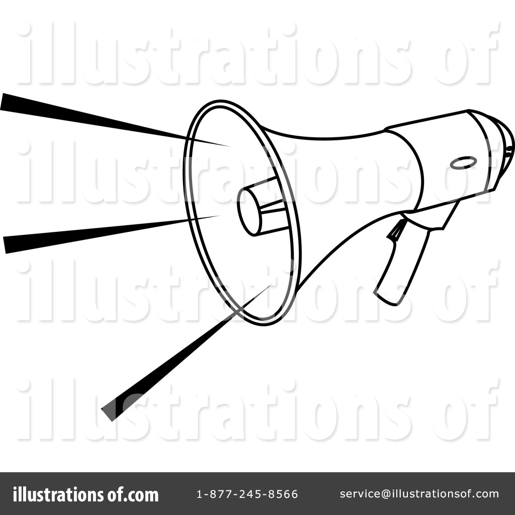 Megaphone Clipart #11956 - Illustration by AtStockIllustration