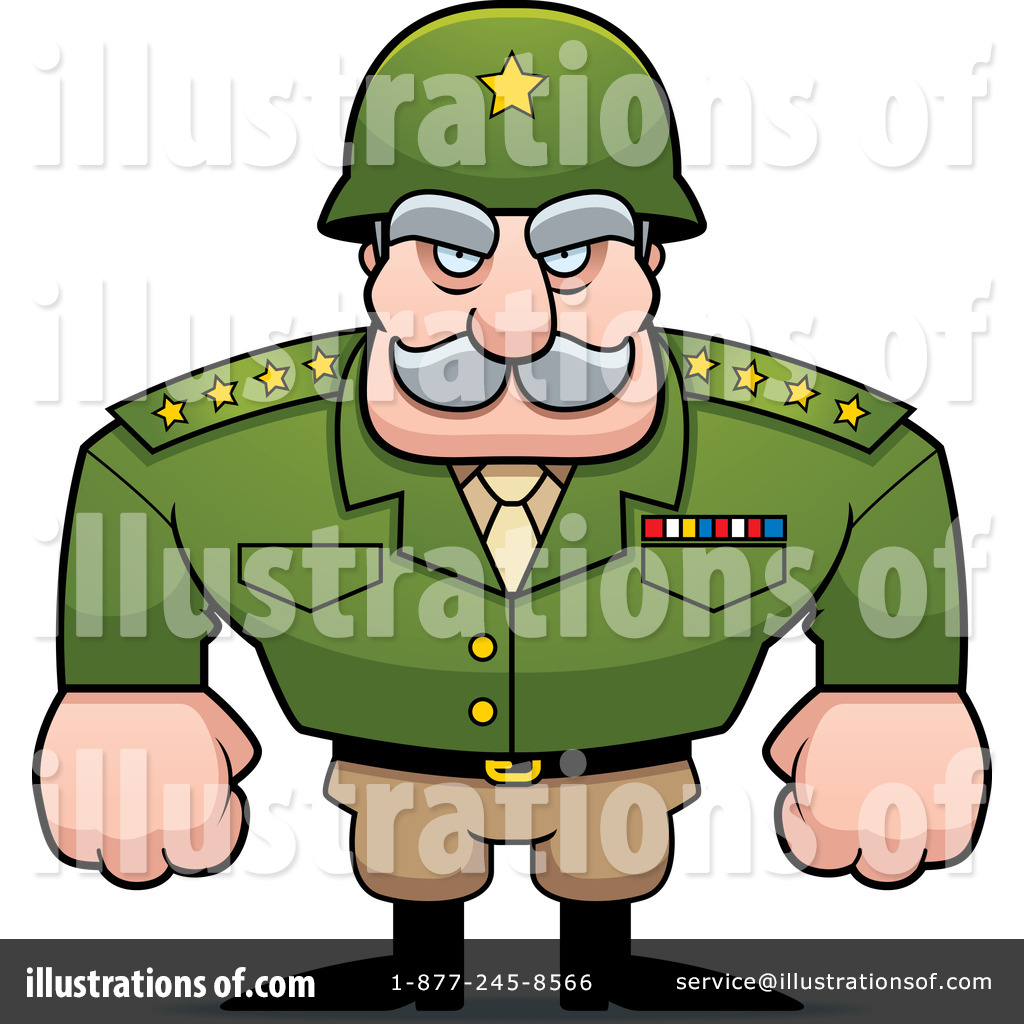 Royalty-free (rf) military clipart illustration by cory thoman - stock