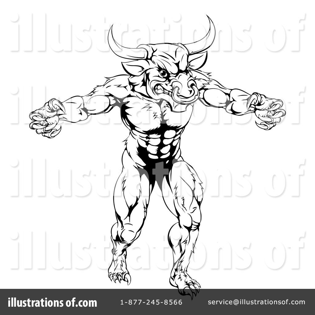 minotaur clipart 1248585 illustration by atstockillustration