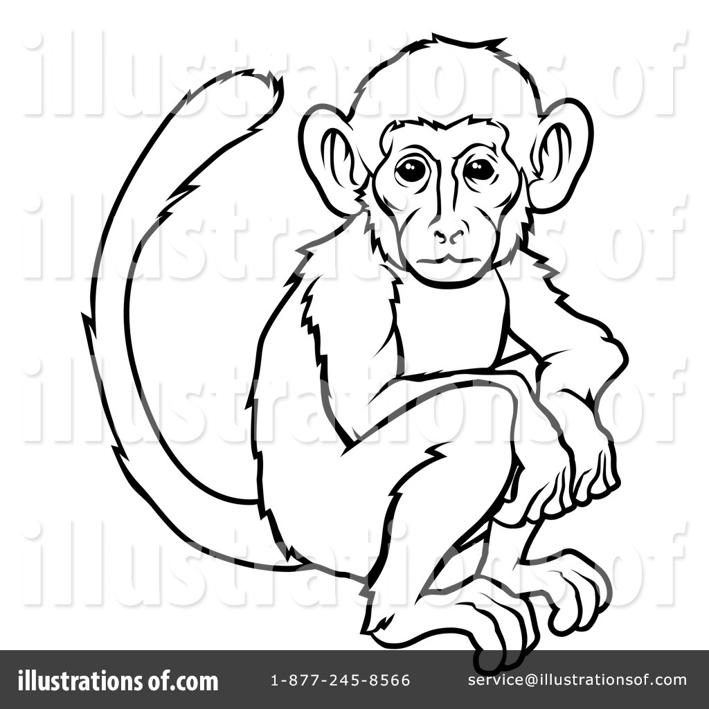 Monkey Clipart Illustration Geo