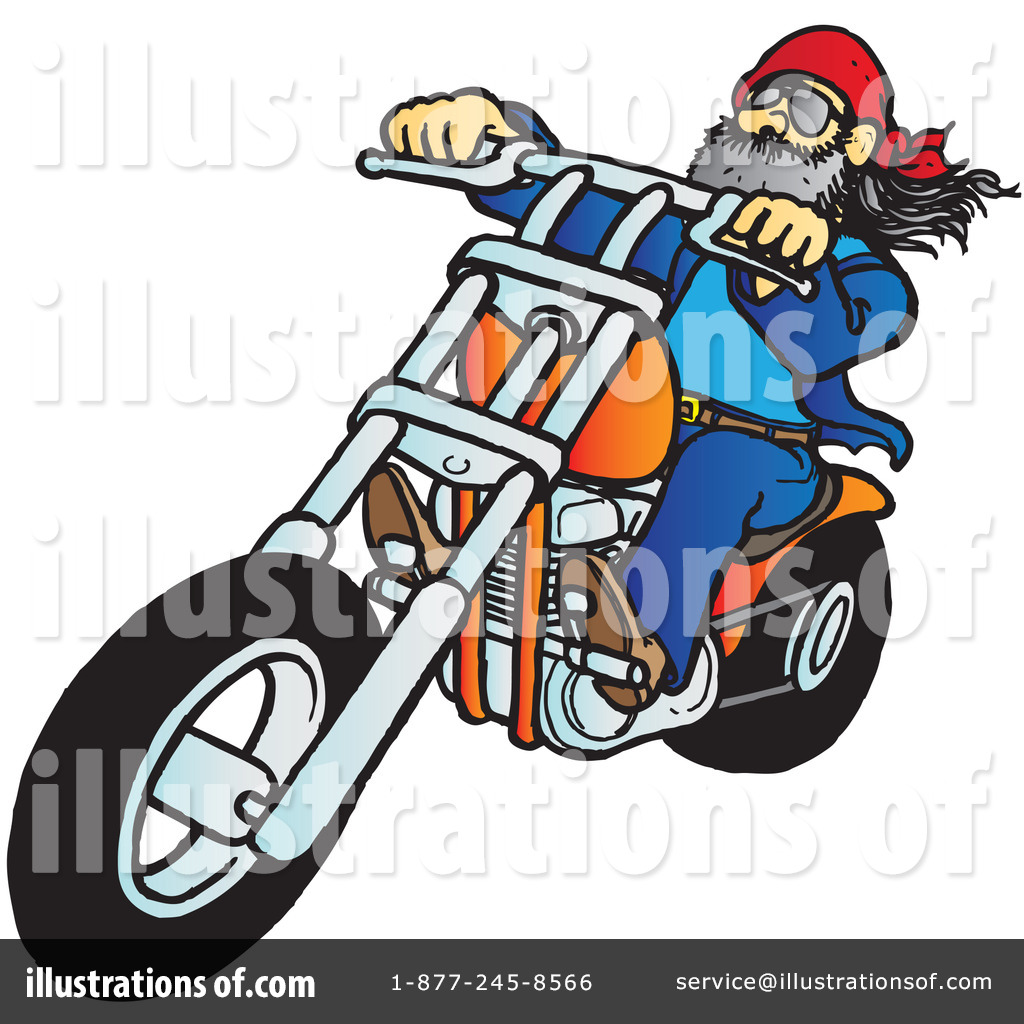 Motorcycle Clipart #40877 - Illustration by Snowy