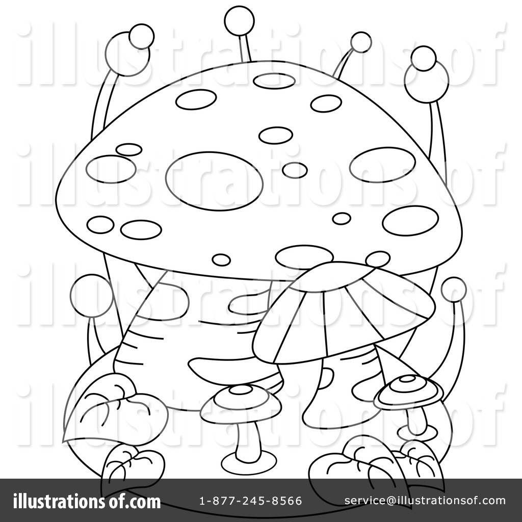 Mushroom Clipart #1049874 - Illustration by BNP Design Studio