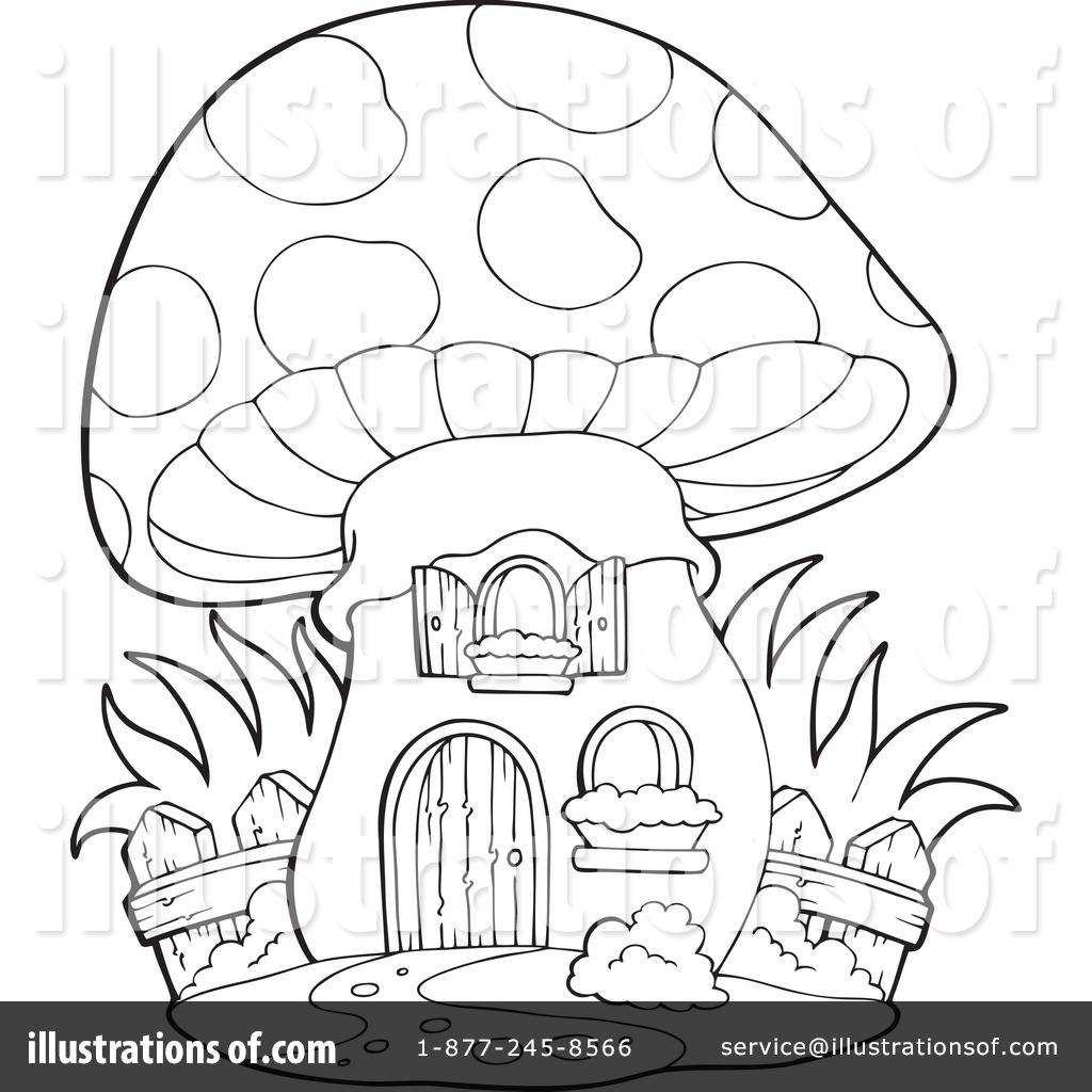 Royalty Free RF Mushroom Clipart Illustration 1100784 By Visekart