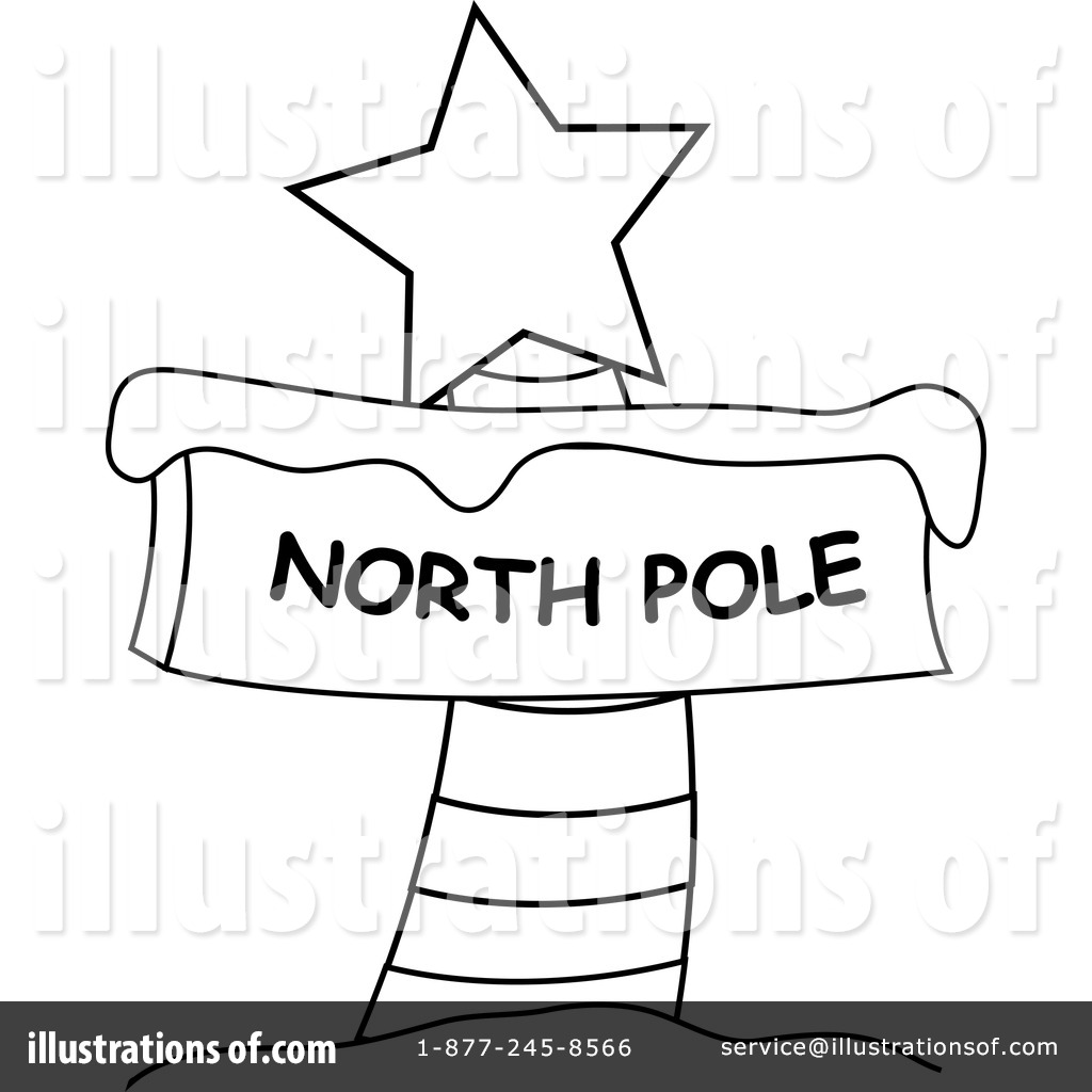 Royalty-Free (RF) North Pole Sign Clipart Illustration by Pams Clipart ...