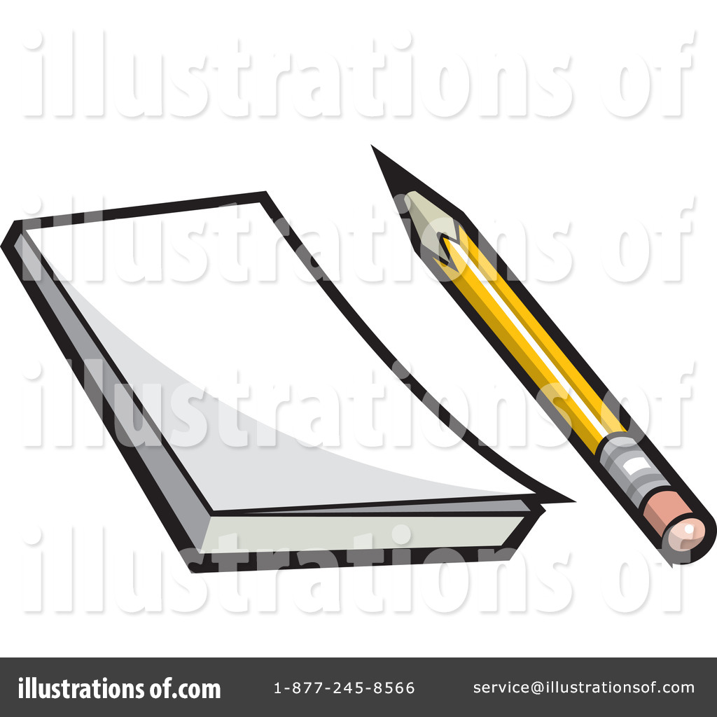 Notepad Clipart #1077953 - Illustration by jtoons