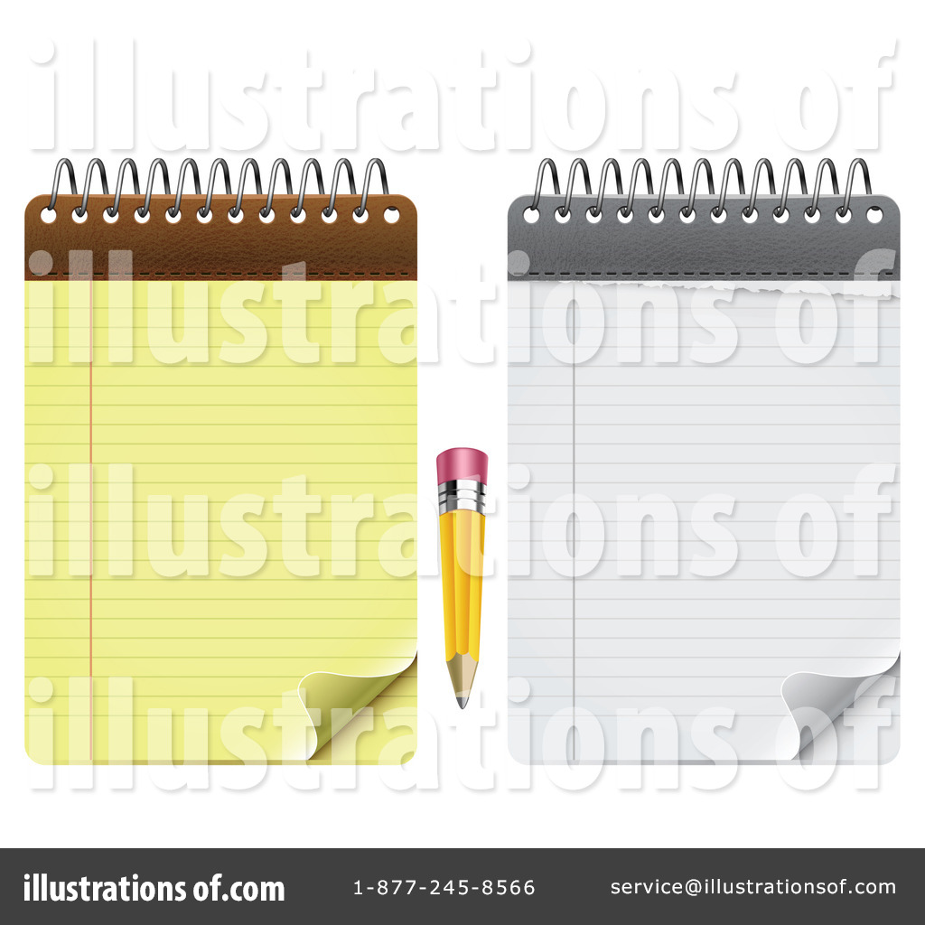 Notepad Clipart #1078641 - Illustration by vectorace