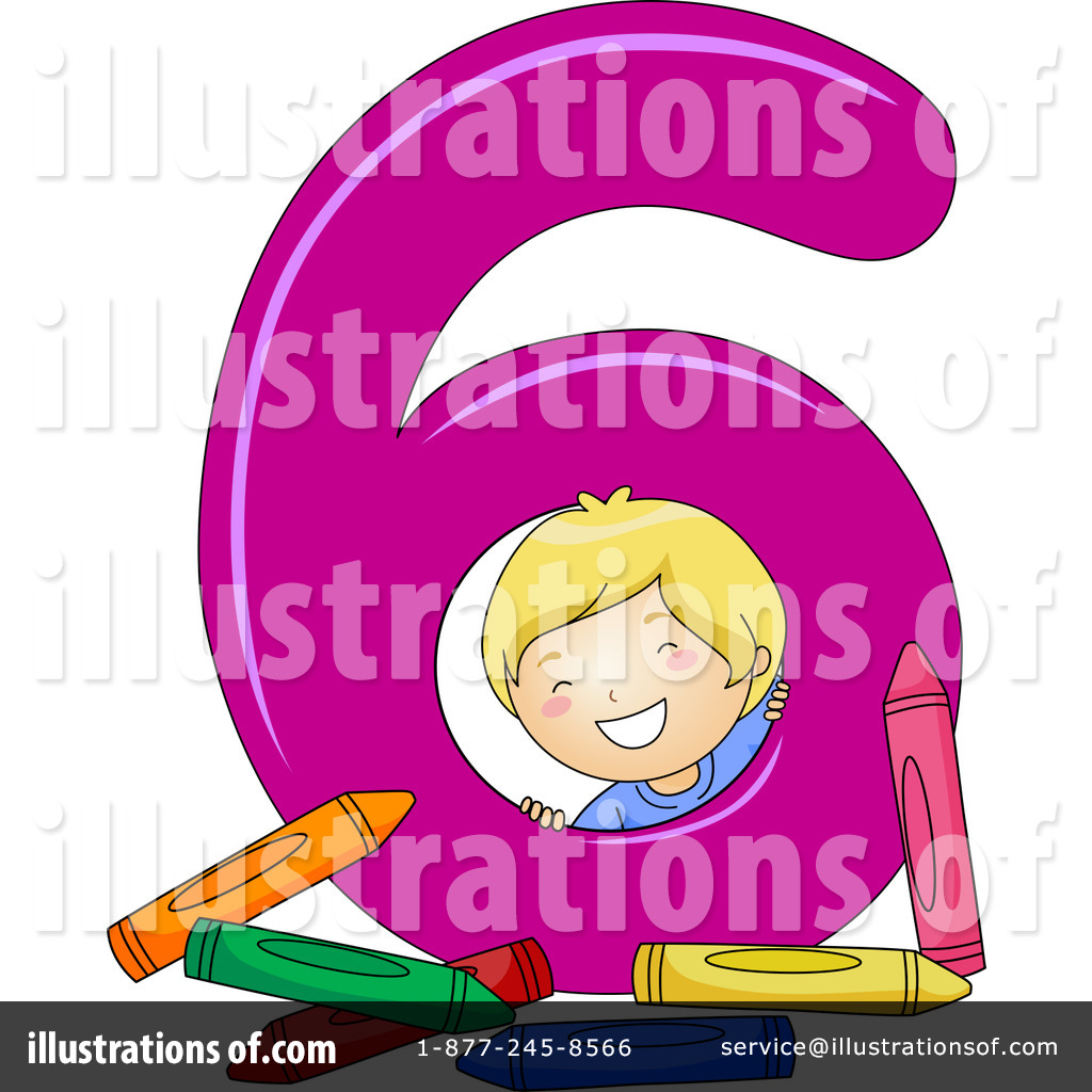 Number 6 Clipart (rf) number clipart
