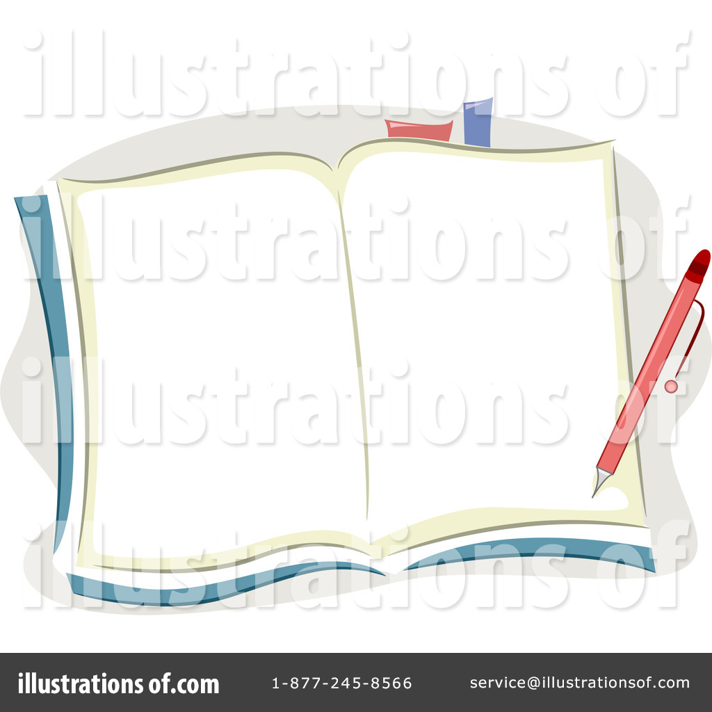 Open Book With Writing Clip Art (rf) open book clipart