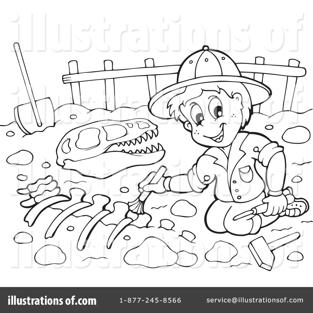 Archaeologist Digging Clipart (rf) paleontology clipart
