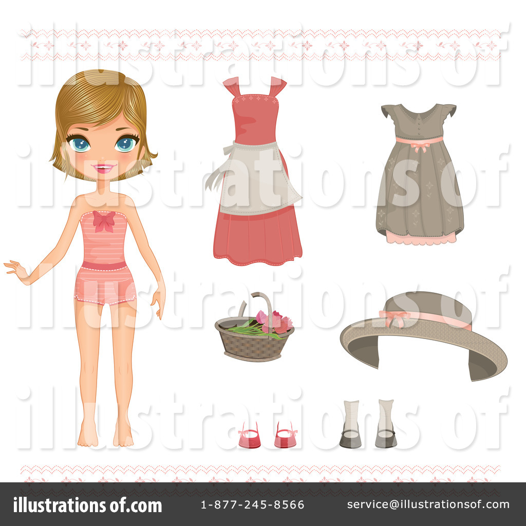 Nice Royalty Free (RF) Paper Doll Clipart Illustration By Melisende Vector    Stock Sample