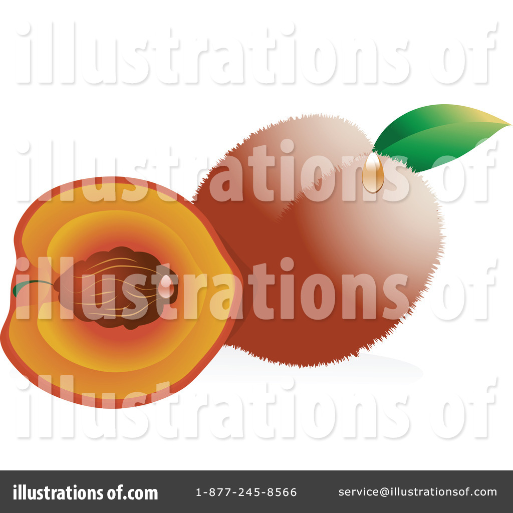 Peaches Clipart #19418 - Illustration by Vitmary Rodriguez